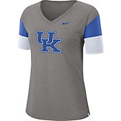 Nike Women's Kentucky Wildcats Grey Breathe V-Neck T-Shirt