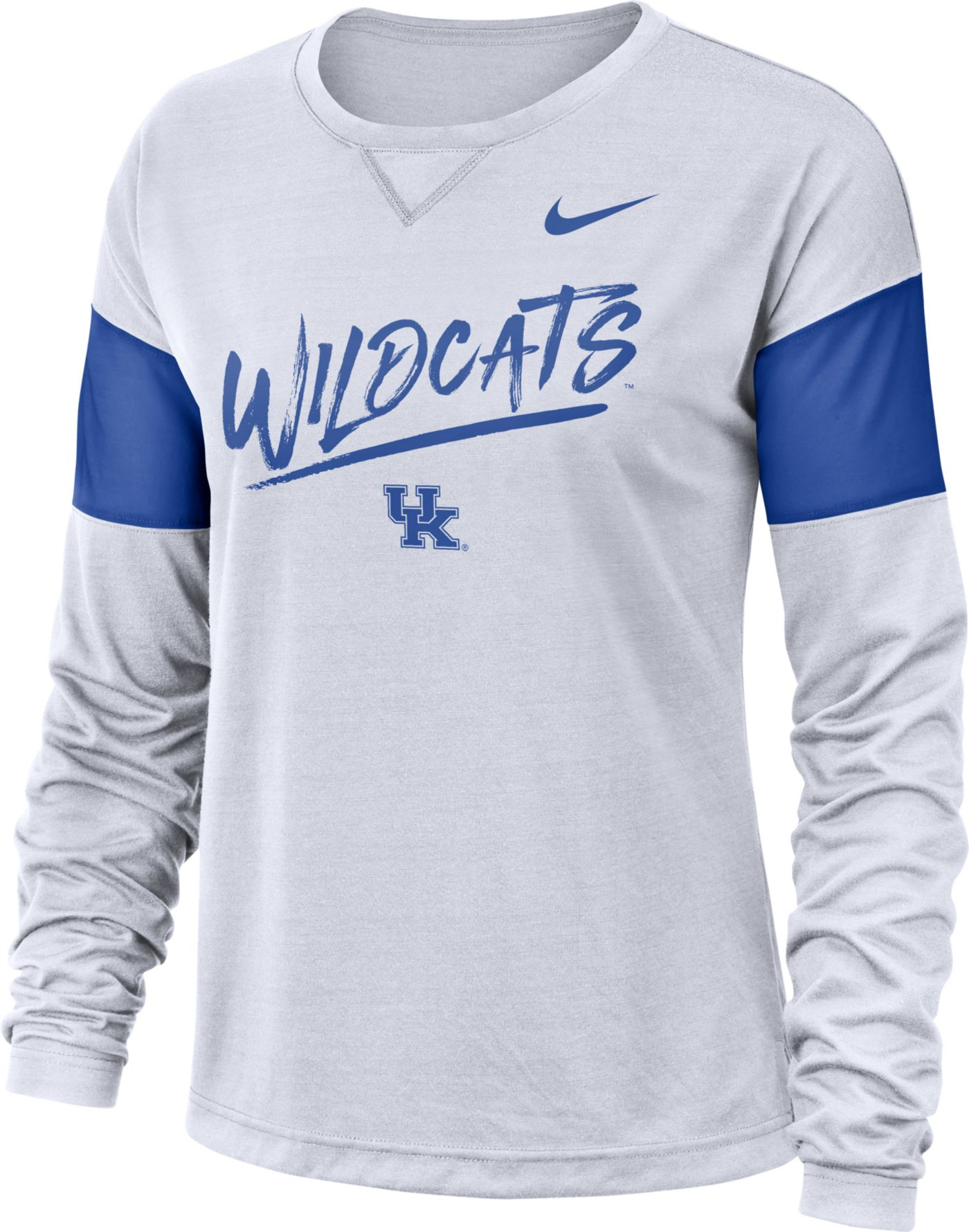 Nike Women's Kentucky Wildcats Dri-FIT Breathe Long Sleeve White T-Shirt