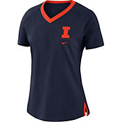 Nike Women's Illinois Fighting Illini Blue Tri-Blend Basketball Fan T-Shirt