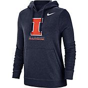 Nike Women's Illinois Fighting Illini Blue Club Fleece Pullover Hoodie