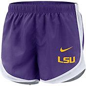 Nike Women's LSU Tigers Purple Dri-FIT Tempo Shorts
