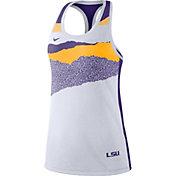Nike Women's LSU Tigers Racerback Dri-FIT White Tank Top