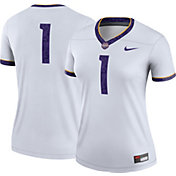 Nike Women's LSU Tigers #1 Legend Football White Jersey