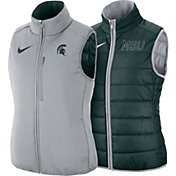 Nike Women's Michigan State Spartans Green Shield Reversible Vest