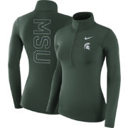 Nike Women's Michigan State Spartans Green Dri-FIT Half-Zip Shirt