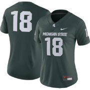 Nike Women's Michigan State Spartans #18 Green Game Football Jersey