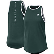 Nike Women's Michigan State Spartans Green High Neck Dri-FIT Tank Top