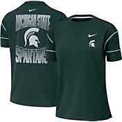 Nike Women's Michigan State Spartans Green Breathe Crew Neck T-Shirt
