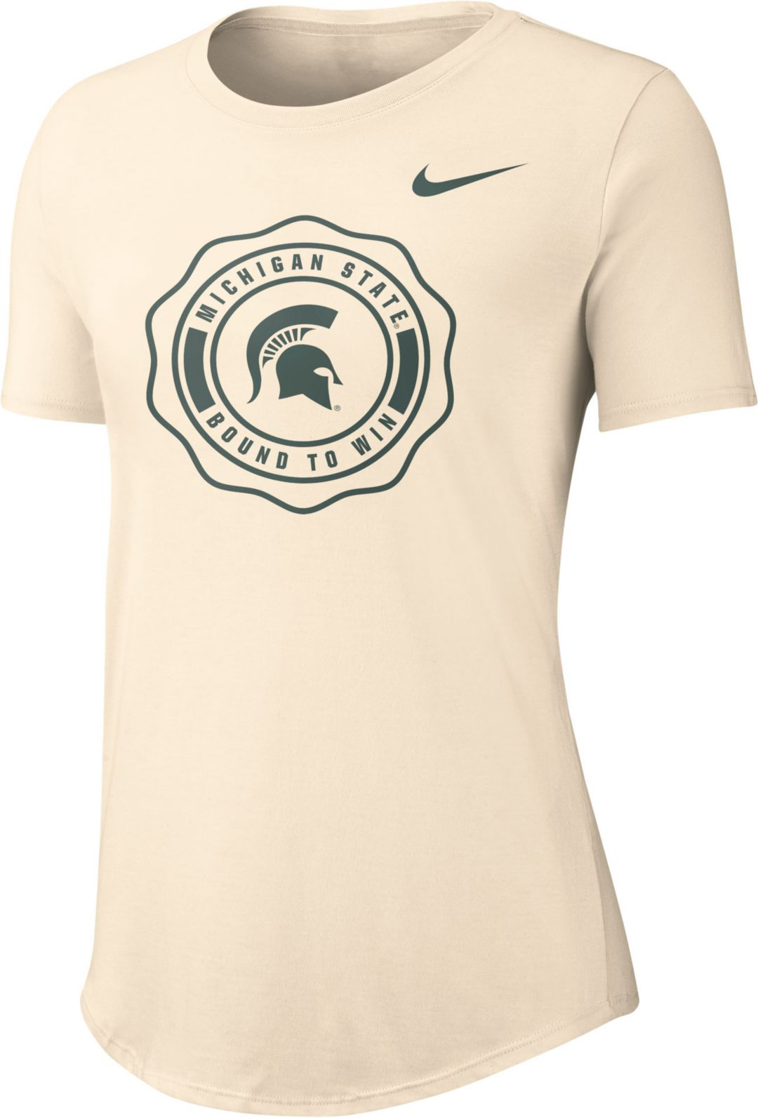 c1ff7762 Nike Women's Michigan State Spartans Rival Tri-Blend White T-Shirt