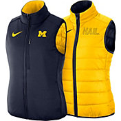 Nike Women's Michigan Wolverines Maize Shield Reversible Vest