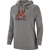 Nike Women's Minnesota Golden Gophers Grey Club Fleece Pullover Hoodie