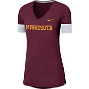 Nike Women's Minnesota Golden Gophers Maroon Dri-FIT Fan V-Neck T-Shirt