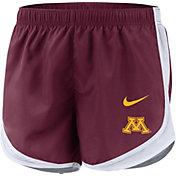 Nike Women's Minnesota Golden Gophers Maroon Dri-FIT Tempo Shorts