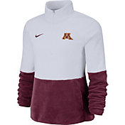 Nike Women's Minnesota Golden Gophers Cozy Therma White Half-Zip Fleece