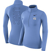 Nike Women's North Carolina Tar Heels Carolina Blue Dri-FIT Half-Zip Shirt