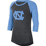 Nike Women's North Carolina Tar Heels Grey Dri-FIT Raglan ¾ Sleeve T-Shirt