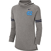 Nike Women's North Carolina Tar Heels Grey Funnel Neck Long Sleeve Top