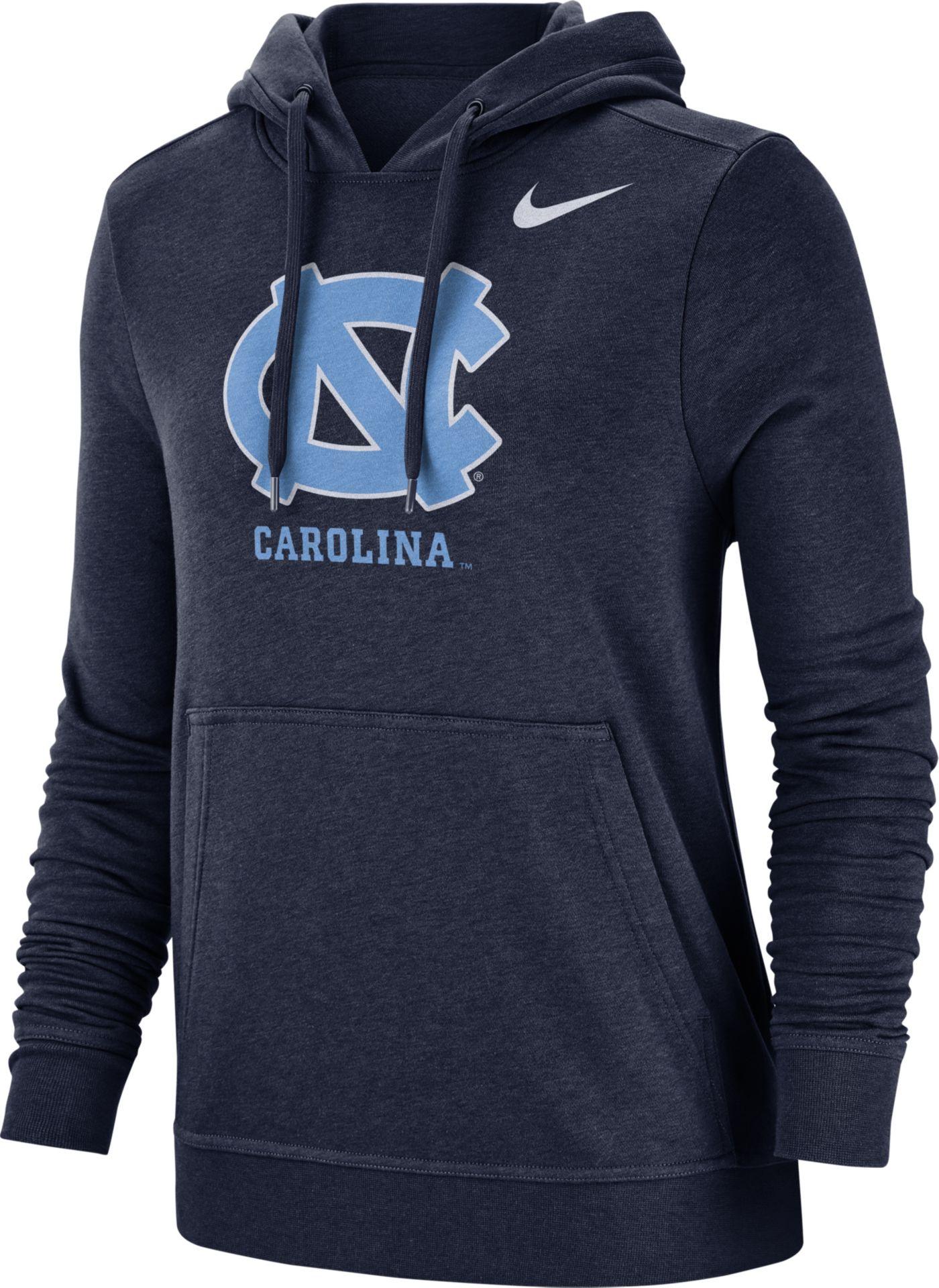 Nike Women's North Carolina Tar Heels Navy Club Fleece Pullover Hoodie