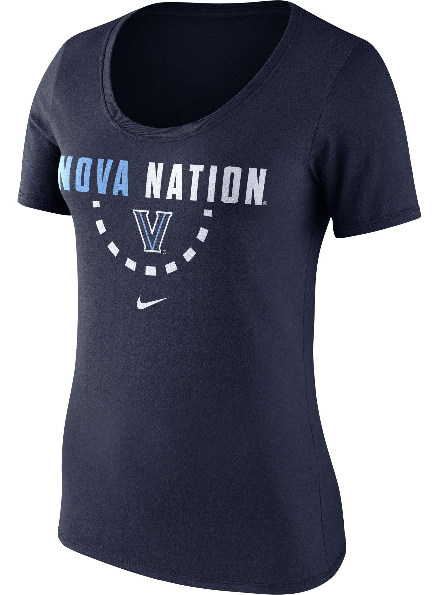 Nike Women's Villanova Wildcats Navy Basketball Mantra T-Shirt
