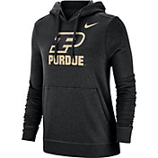 Nike Women's Purdue Boilermakers Club Fleece Pullover Black Hoodie