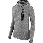 Nike Women's Purdue Boilermakers Grey Element Dry Quarter-Zip Hoodie