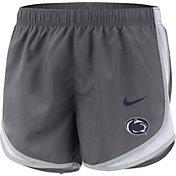 Nike Women's Penn State Nittany Lions Grey Dri-FIT Tempo Shorts