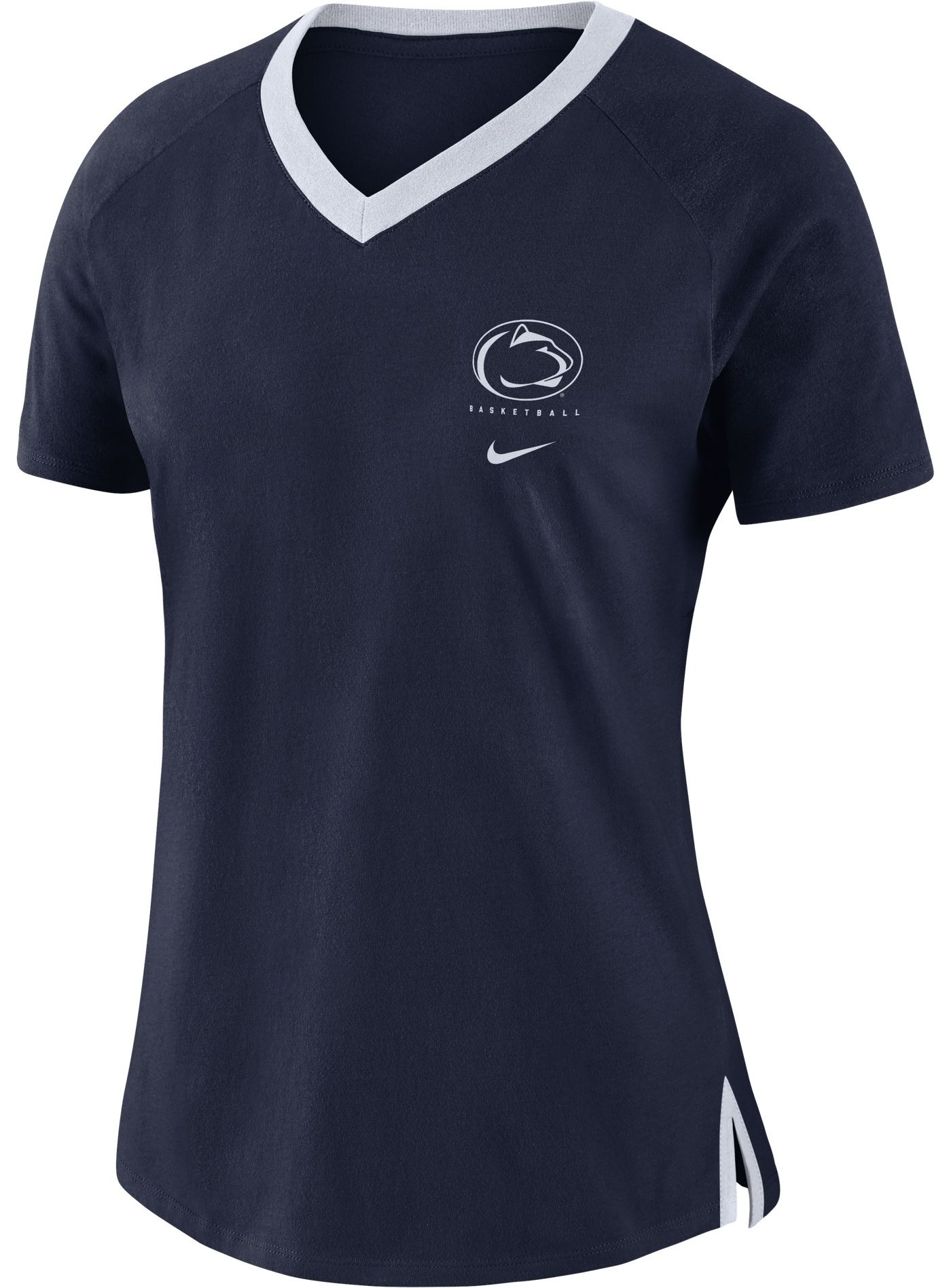 Nike Women's Penn State Nittany Lions Blue Tri-Blend Basketball Fan T-Shirt