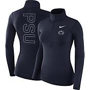 Nike Women's Penn State Nittany Lions Blue Dri-FIT Half-Zip Shirt