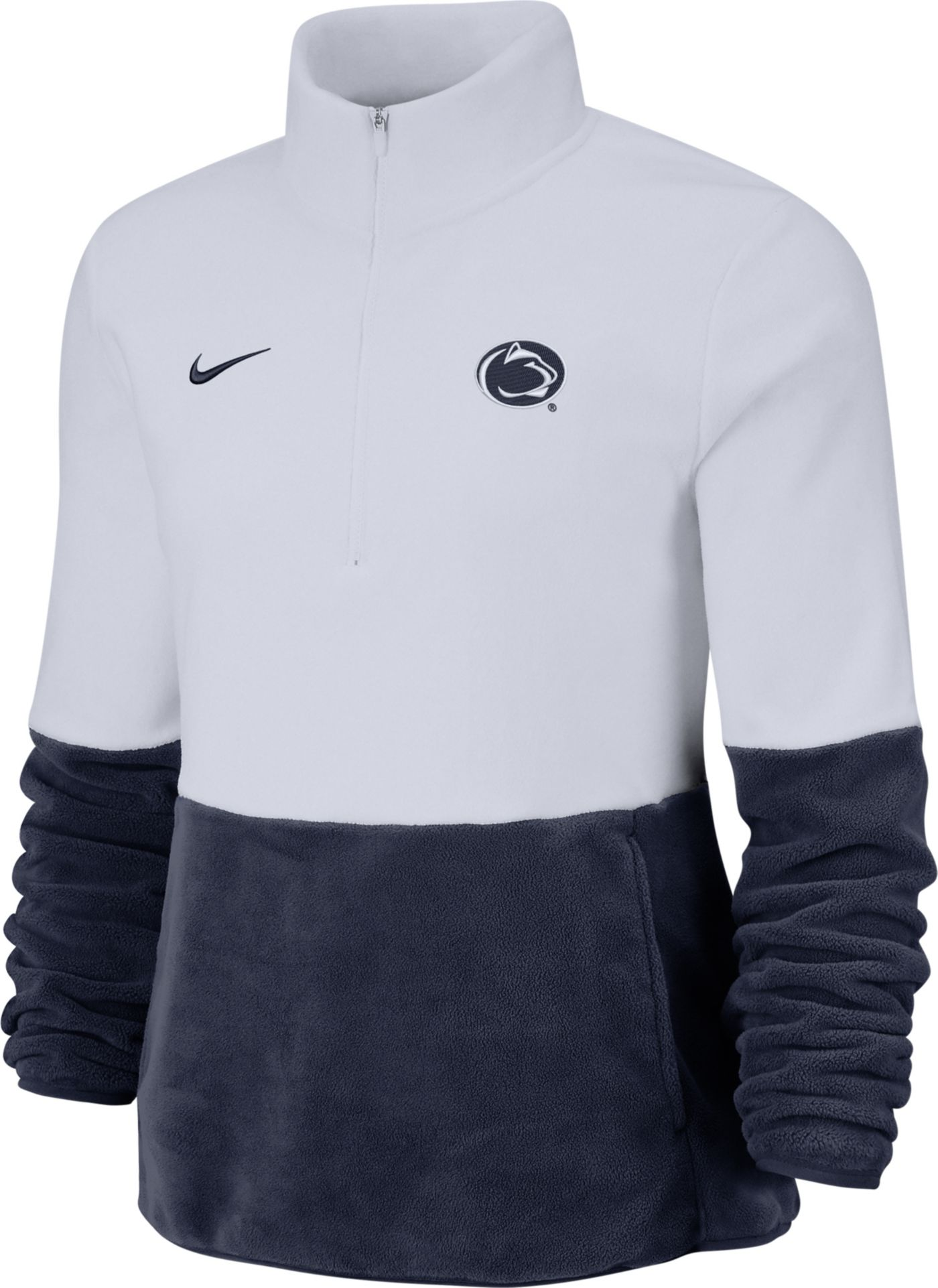 Nike Women's Penn State Nittany Lions Cozy Therma White Half-Zip Fleece