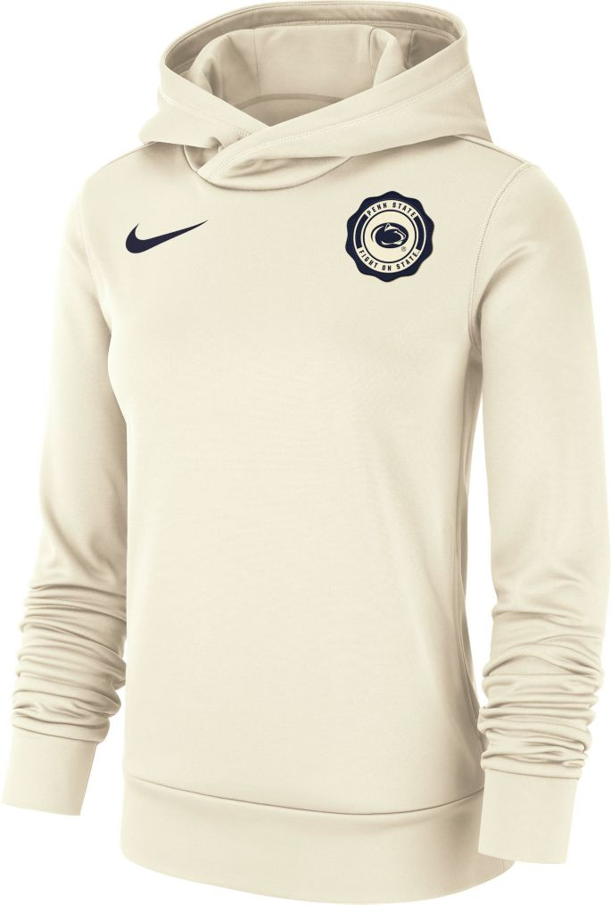 new product d7a50 a7b03 Nike Women's Penn State Nittany Lions Therma-FIT Rival White Pullover Hoodie