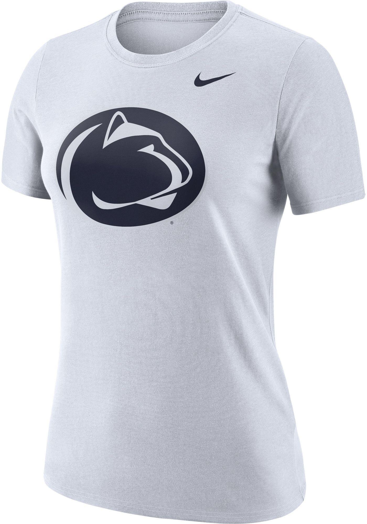 Nike Women's Penn State Nittany Lions Dri-FIT Logo Crew White T-Shirt