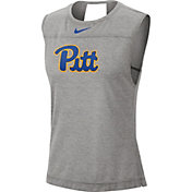 Nike Women's Pitt Panthers Grey Breathe Tank Top