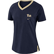Nike Women's Pitt Panthers Blue Tri-Blend Basketball Fan T-Shirt