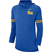 Nike Women's Pitt Panthers Blue Funnel Neck Long Sleeve Top