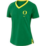 Nike Women's Oregon Ducks Green Tri-Blend Basketball Fan T-Shirt