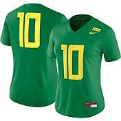 Nike Women's Oregon Ducks #10 Green Dri-FIT Game Football Jersey