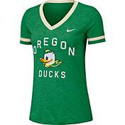 Nike Women's Oregon Ducks Green Slub Fan V-Neck T-Shirt