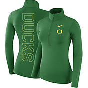 Nike Women's Oregon Ducks Green Dri-FIT Half-Zip Shirt