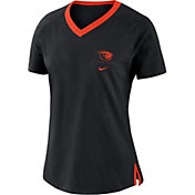 Nike Women's Oregon State Beavers Tri-Blend Basketball Fan Black T-Shirt