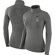 Nike Women's Arizona Wildcats Grey Dri-FIT Half-Zip Shirt