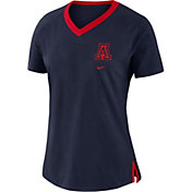 Nike Women's Arizona Wildcats Navy Tri-Blend Basketball Fan T-Shirt