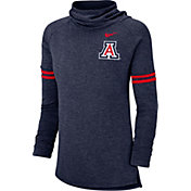Nike Women's Arizona Wildcats Navy Funnel Neck Long Sleeve Top
