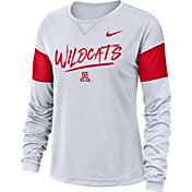 Nike Women's Arizona Wildcats Dri-FIT Breathe Long Sleeve White T-Shirt