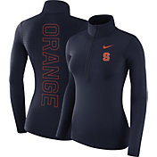 Nike Women's Syracuse Orange Blue Dri-FIT Half-Zip Shirt