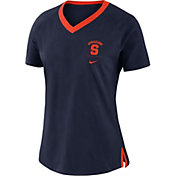 Nike Women's Syracuse Orange Blue Tri-Blend Basketball Fan T-Shirt