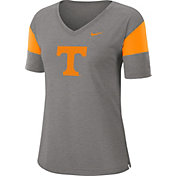 Nike Women's Tennessee Volunteers Grey Breathe V-Neck T-Shirt
