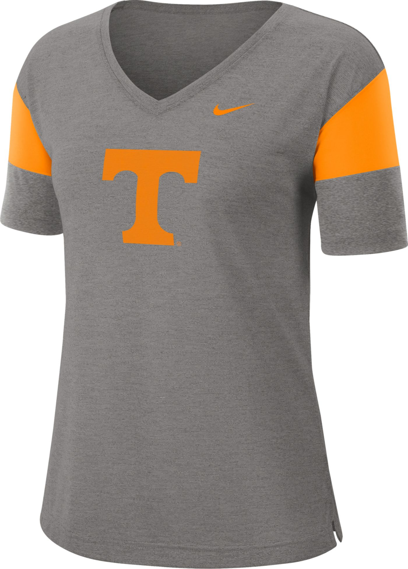 Nike Women's Tennessee Volunteers Grey Breathe V-Neck T-Shirt