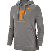 Nike Women's Tennessee Volunteers Grey Club Fleece Pullover Hoodie