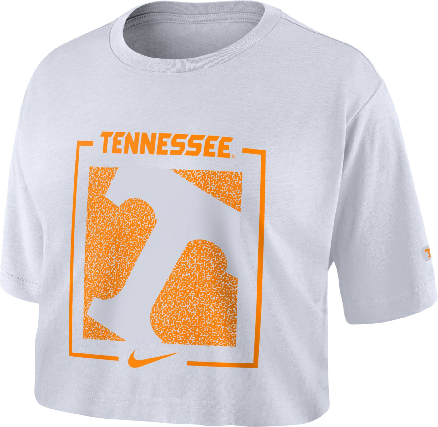 Nike Women's Tennessee Volunteers Dry Cropped White T-Shirt
