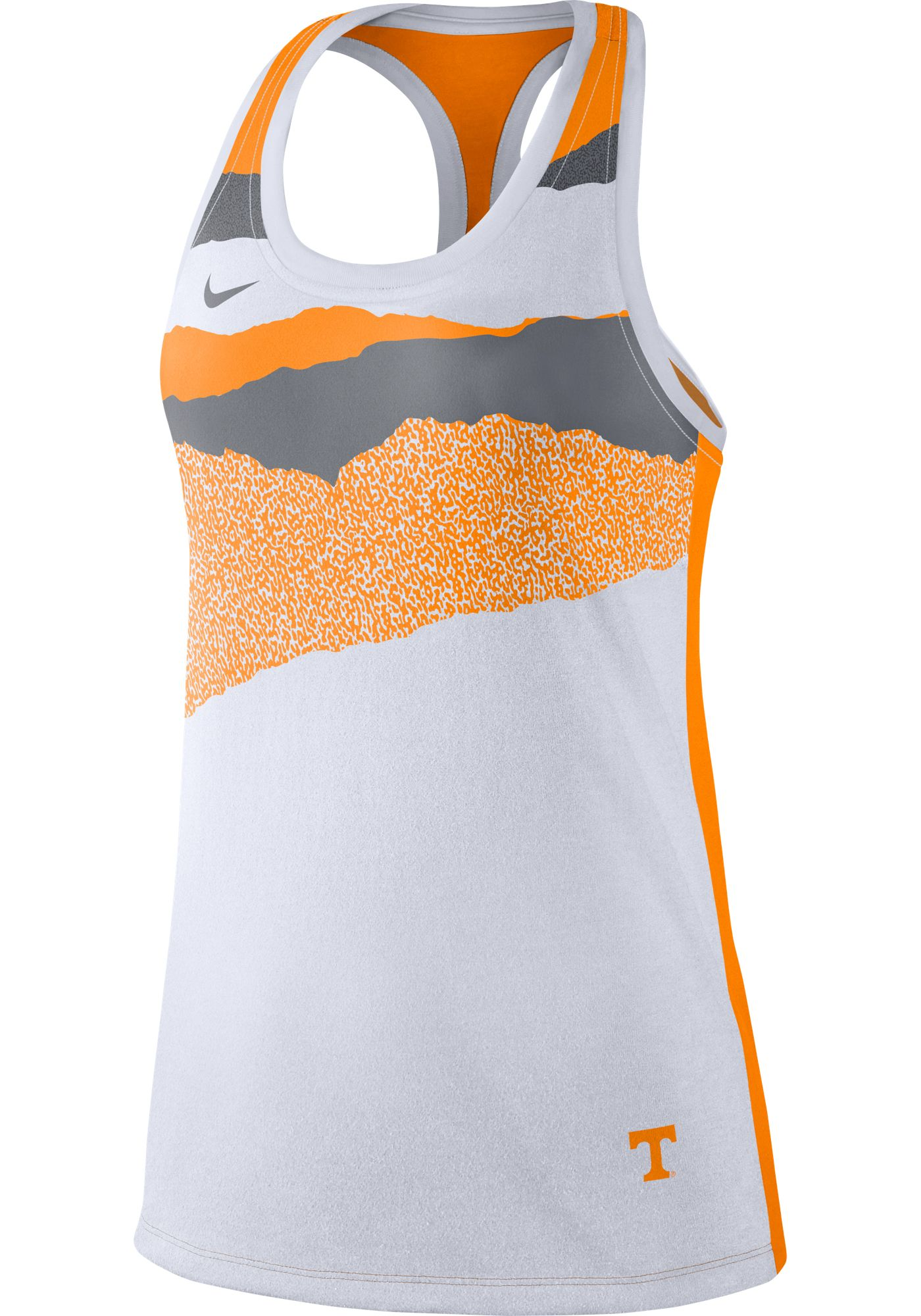 Nike Women's Tennessee Volunteers Racerback Dri-FIT White Tank Top
